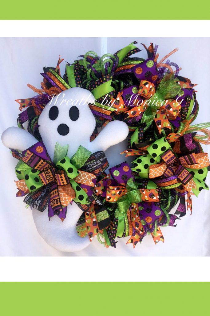 Halloween Wreath, Ghost Wreath