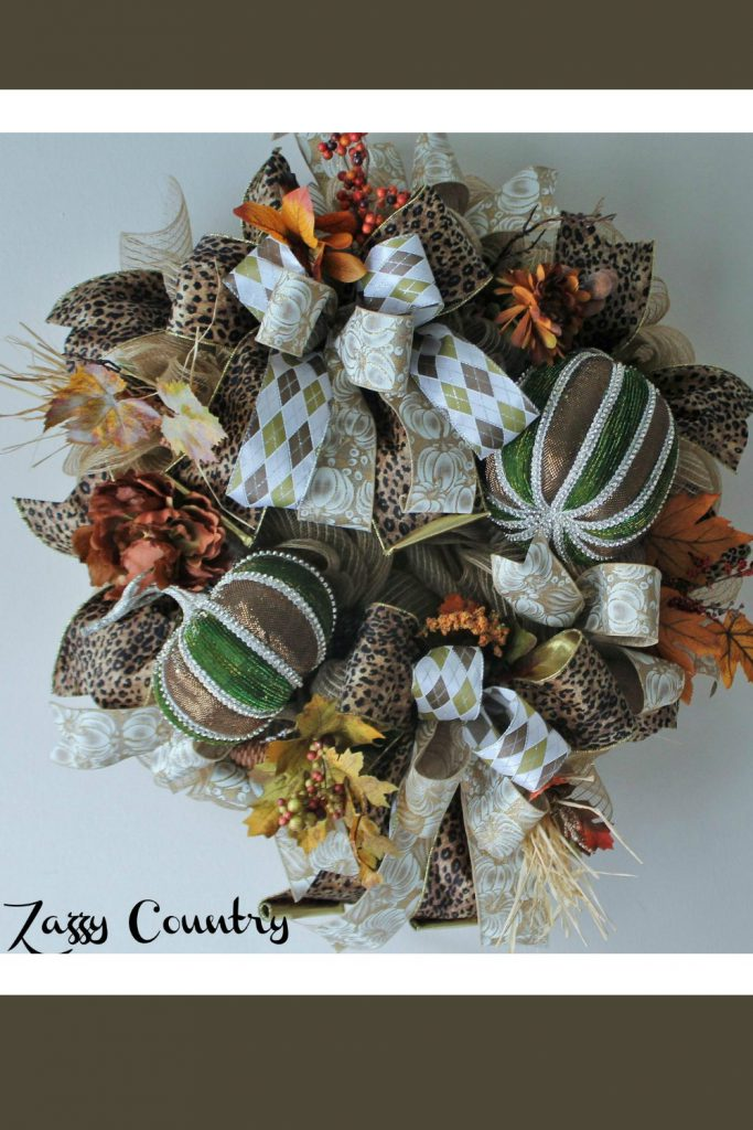 fall pumpkin wreath, elegant pumpkin wreath