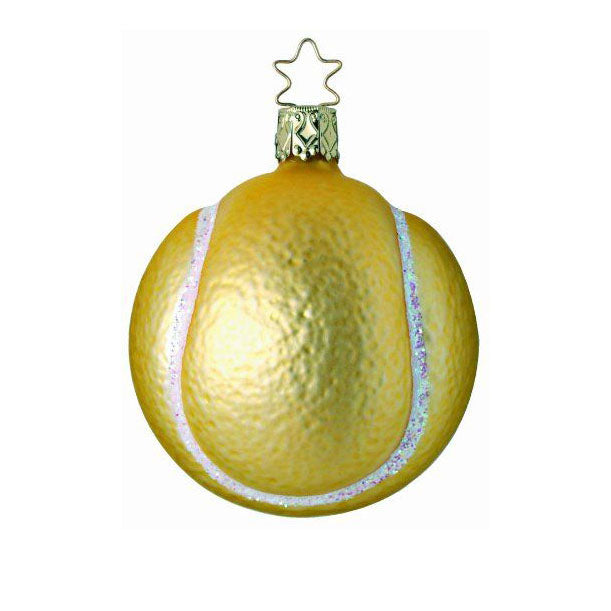 Tennis Anyone? Tennis Ball Christmas Ornament Inge-Glas of Germany 1-049-04