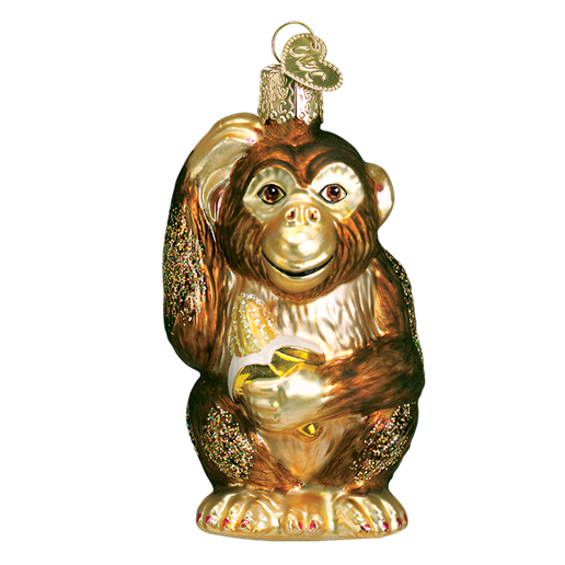 Chimpanzee Monkey 12112 Old World Christmas Ornamet