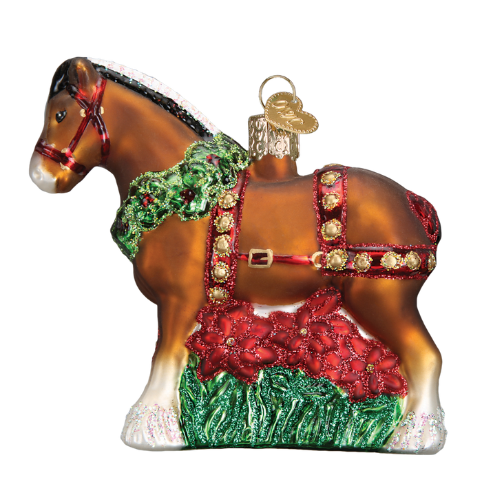 Holiday Clydesdale Horse 12255 Old World Christmas