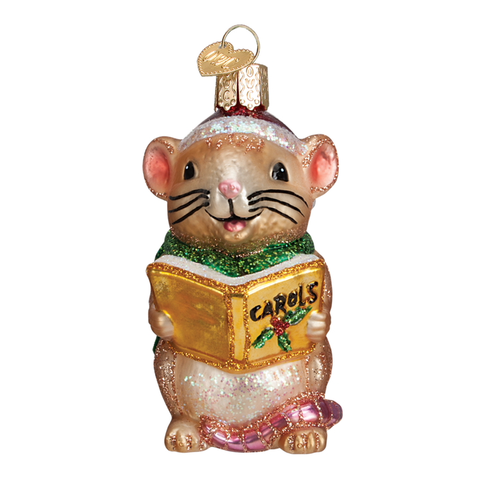 Caroling Mouse 12427 Ornament Old World Christmas Assorted