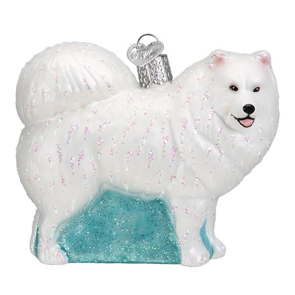Samoyed White Dog Old World Christmas Ornament 12567