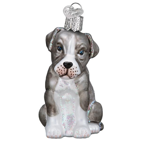 Pitbull Pup Old World Christmas Ornament 12570