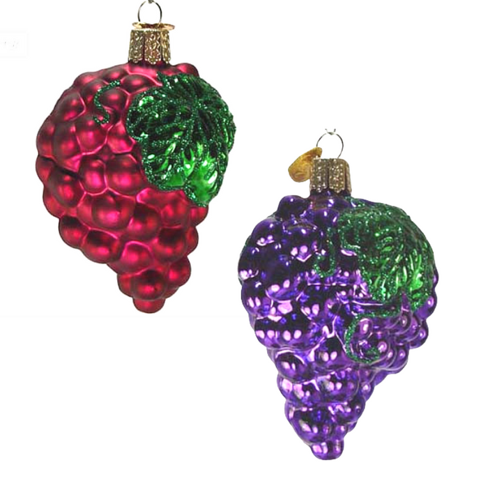 Purple Grapes 28004 Old World Christmas Ornament Assorted