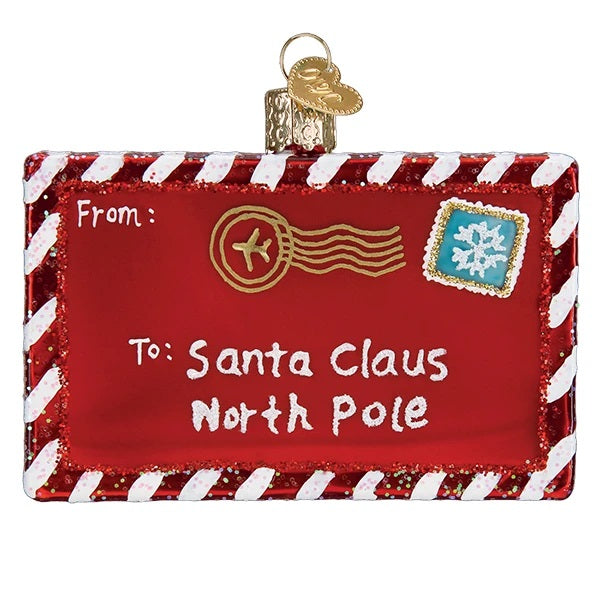 Letter to Santa Old World Christnas Ornament 36281