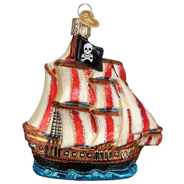 Pirate Ship Old World Christmas Ornament 46089