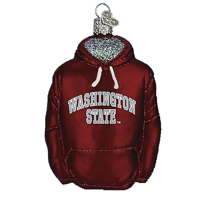 Washinton State Hoodie Ornament Old World Christmas 62003