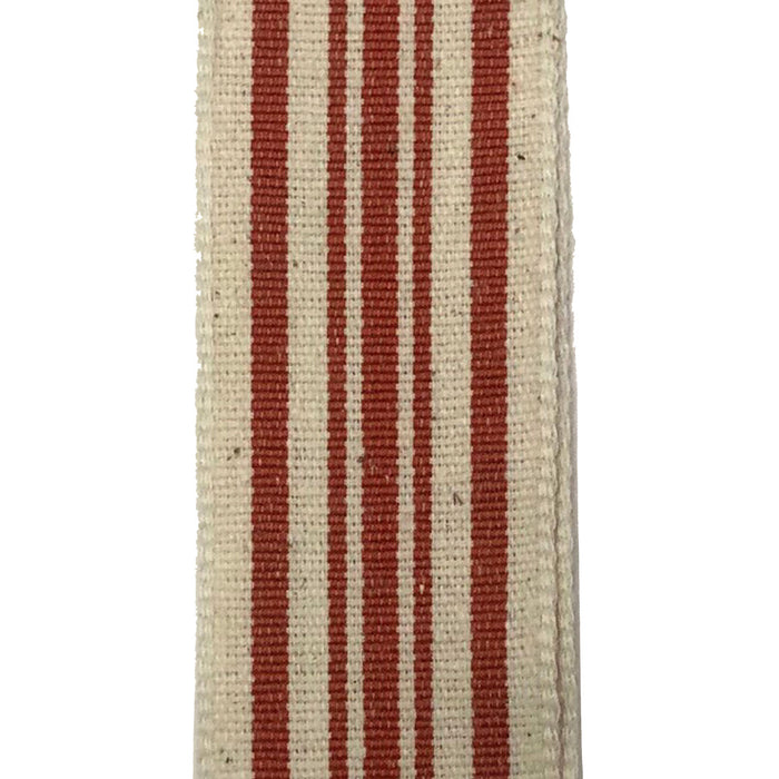 "1.5"" Ivory Rust Woven French Stripe Ribbon 6700109-31"