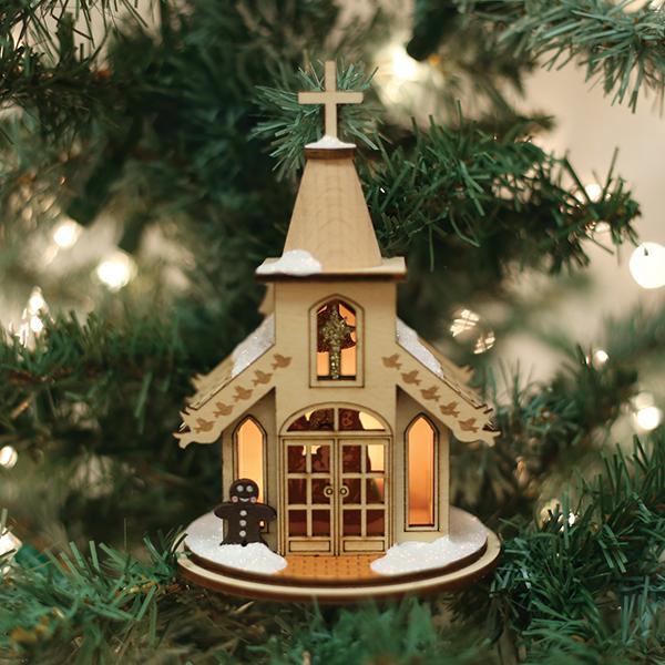 Nativity Chapel Old World Christmas Ornament 80003