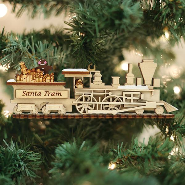 Santa Train Old World Christmas Ornament 80008