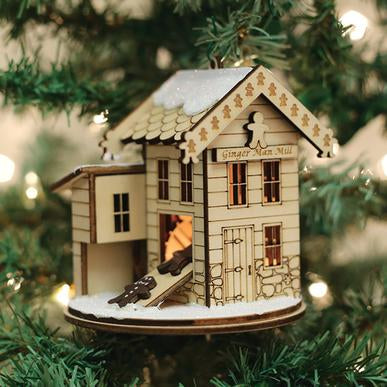 Ginger Man Grist Mill GC110 Old World Christmas Ginger Cottage Ornament 80010