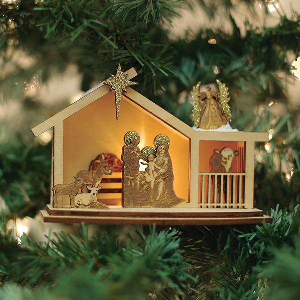 Ginger Nativity Old World Christmas Ornament 80020