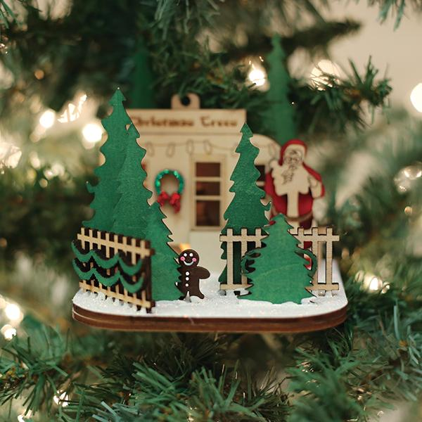 Christmas Tree Lot Old World Christmas Ornament 80027