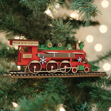 Santa's North Pole Express Engine GC137 Old World Christmas Ornament 80034