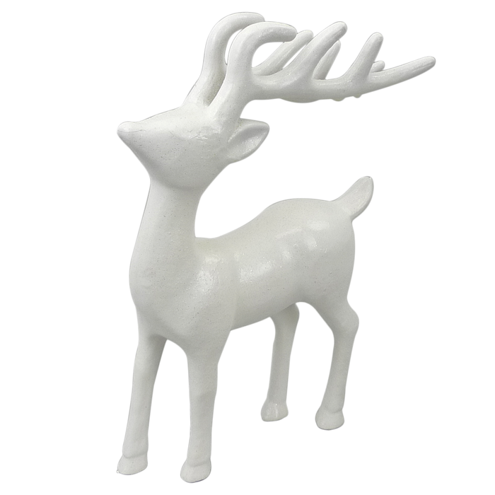 "12"" Small White Deer Christmas Decor 85070WT"
