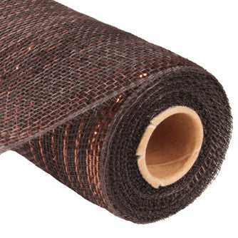 "21"" Chocolate Foil Metallic Deco Poly Mesh RE1001N8"