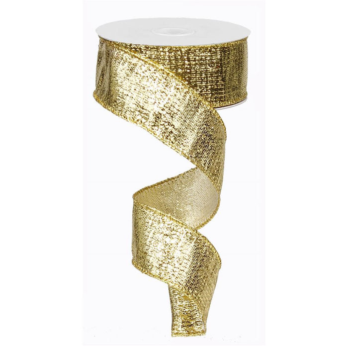 "1.5"" Gold Metallic Ribbon RG0139908"