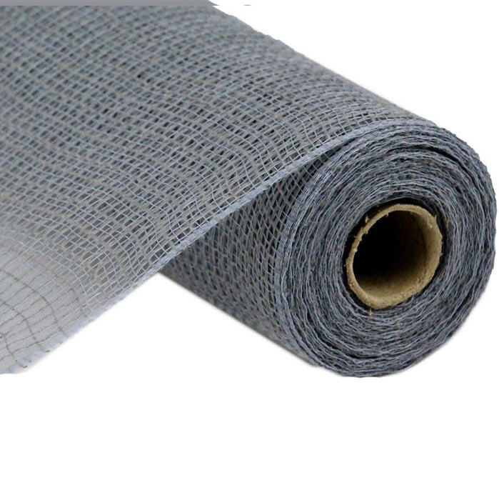 "10.5"" Grey Faux Jute Check Weave Mesh RY831310"