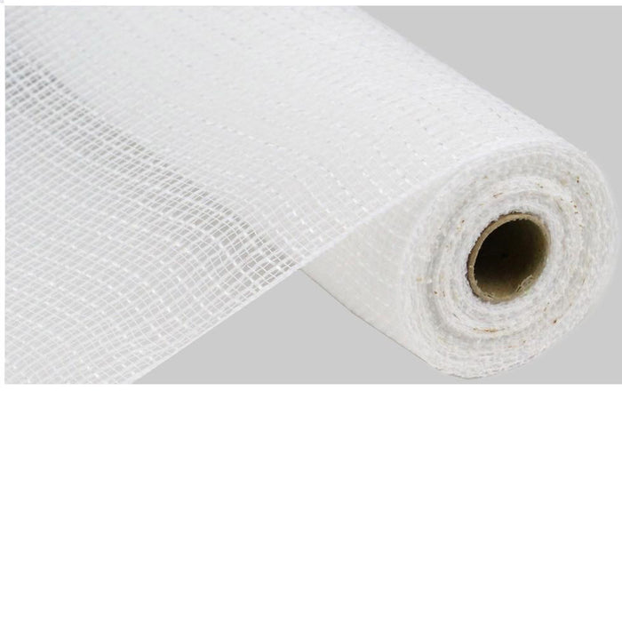 "10.5"" White Faux Jute Check Weave Mesh RY831327"