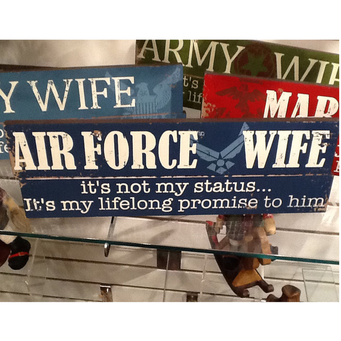 Armed Forces Sentiment Wall Plaque Army Navy Marines Air Force P5159