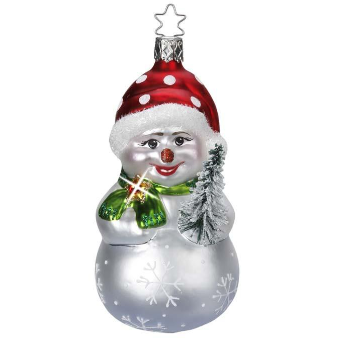 Snowy Friend Limited Edition Snowman Ornament Inge-Glas 1-004-15
