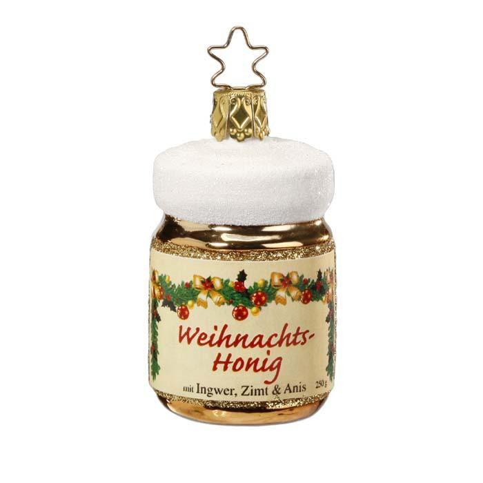 Jar of Honey Christmas Ornament Inge-Glas 1-026-13