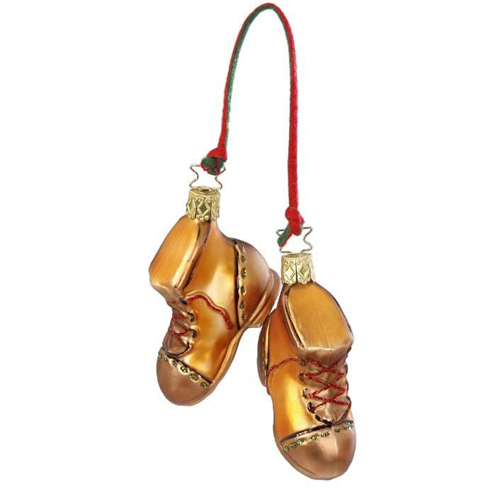 Forest Hiker Boots Christmas Ornament Inge-Glas 1-188-15