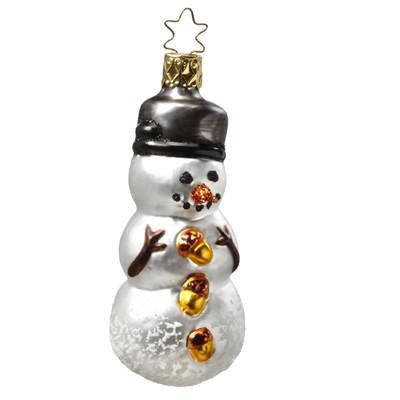 Dressed to the Nuts Snowman Christmas Ornament Inge-Glas of Germany 1-044-10