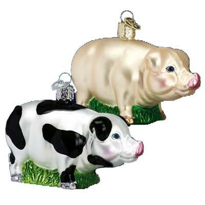 Big Pig 12121 Old World Christmas Ornament Assorted