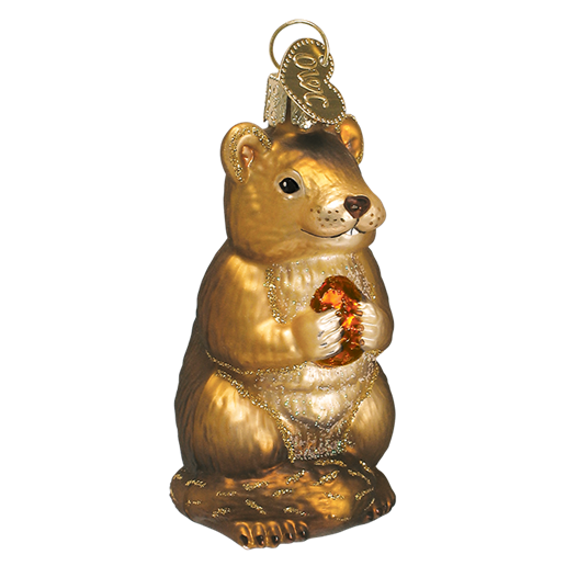 Chipmunk Christmas 12145 Old World Christmas Ornament