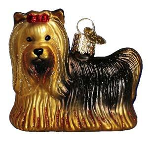 Yorkie Dog 12151 Old World Christmas Ornament