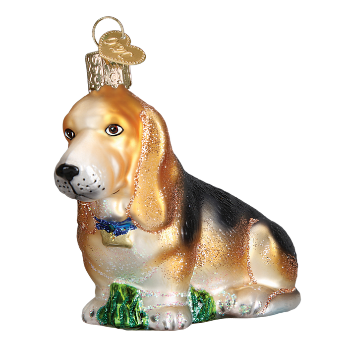 Basset Hound 12473 Old World Christmas Ornament