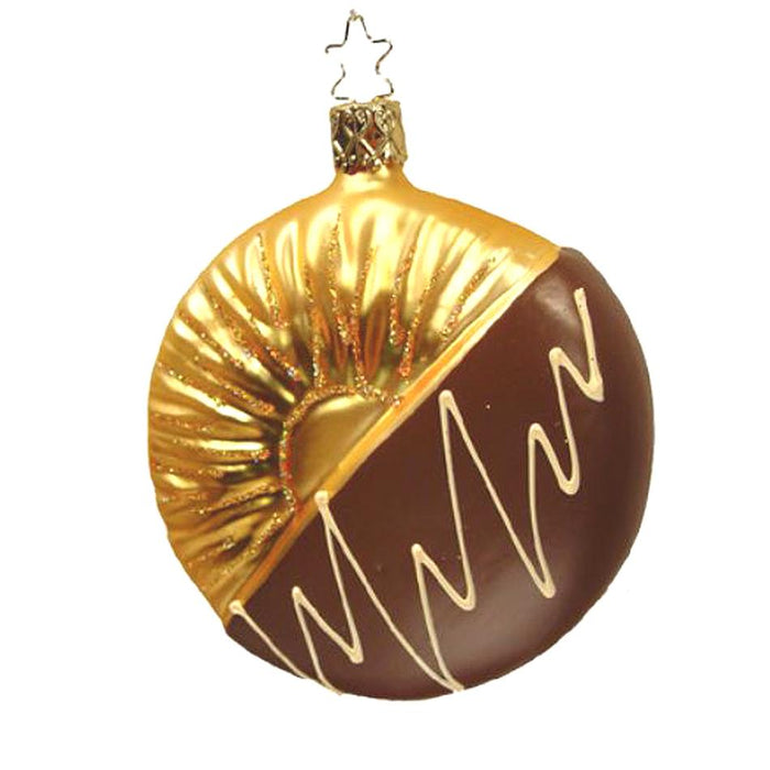 Milk Chocolate Dipped Pineapple Slice Ornament Inge-Glas 1-249-08