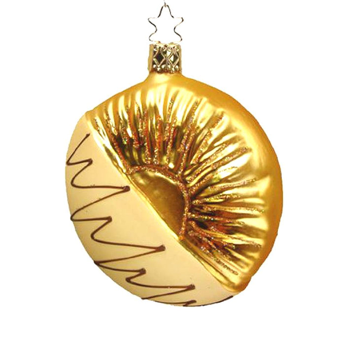 White Chocolate Dipped Pineapple Slice Ornament Inge-Glas 1-249-08