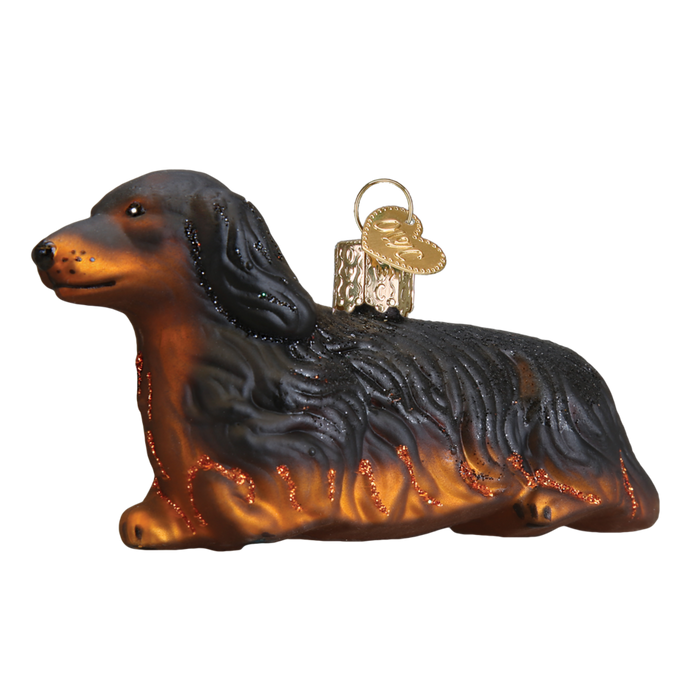 Long-Haired Dachshund 12493 Old World Christmas Ornament