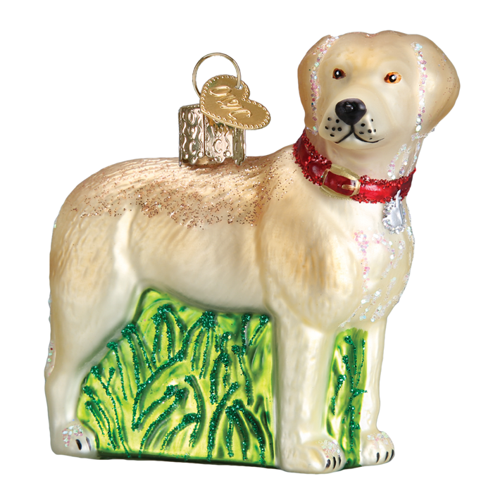 Standing Yellow Lab 12496 Old Christmas Ornament