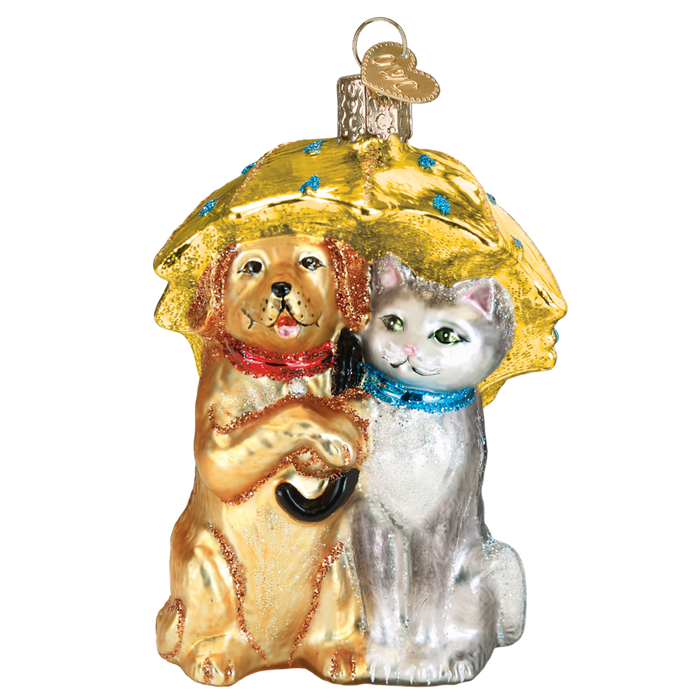 Raining Cats & Dogs 12501 Old World Christmas Ornament