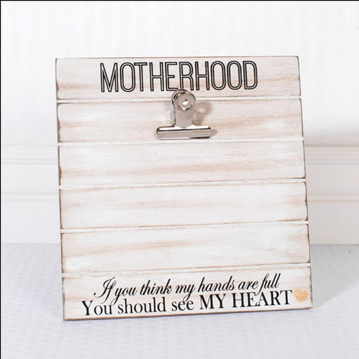 "10"" Motherhood Wood Photo Holder"