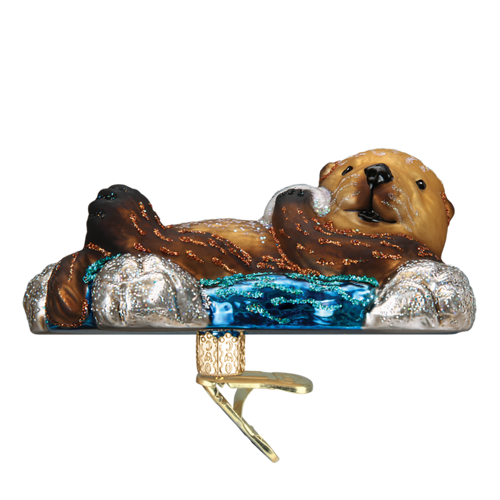 Floating Sea Otter 12506 Old World Christmas Ornament