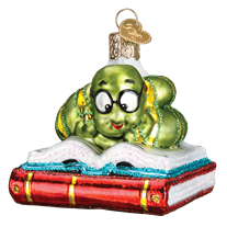 Bookworm 12514 Old World Christmas Ornament