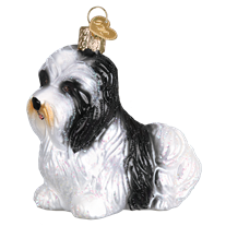 Havanese Dog 12526 Old World Christmas Ornament