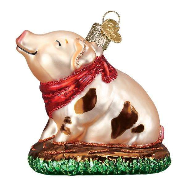 Piggy in the Puddle 2535  Old World Christmas Ornament