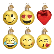 Mini Emoji Set 14024 Old World Christmas Ornaments