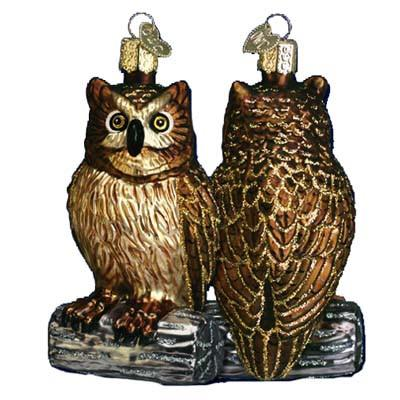 Wise Old Owl 16019 Ornament Old World Christmas