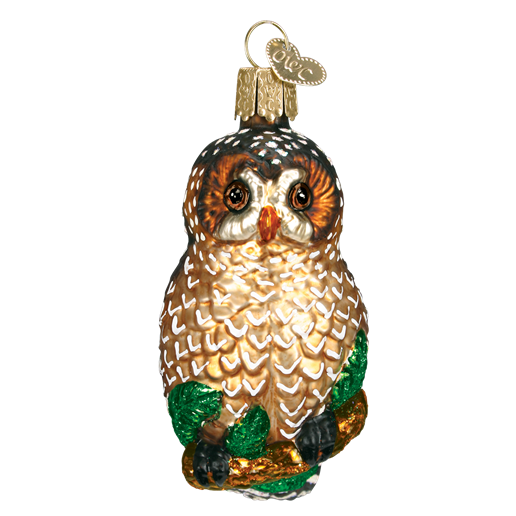 Spotted Owl 16052 Old World Christmas Ornament