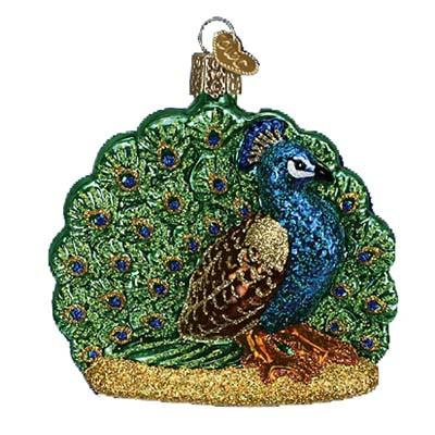 Proud Peacock 16074 Old World Christmas Ornament