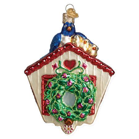 Spring Birdhouse with Blue Birds 16100 Old World Christmas Ornament