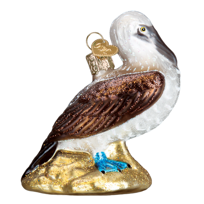 Blue Footed Booby Bird 16113 Old World Christmas Ornament 16113