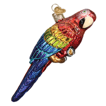 Tropical Parrot 16119 Old World Christmas Ornament